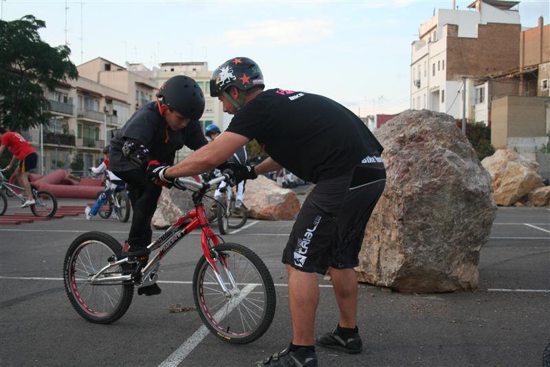 Entrenamiento de bike trial con Juan de la Peña