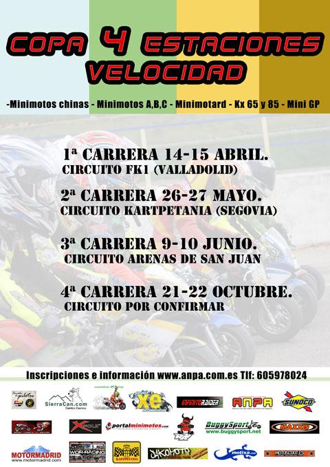 Nuevo campeonato 4 estaciones zona centro, FK1, Kartpetania, Arenas, Baratania o Santos