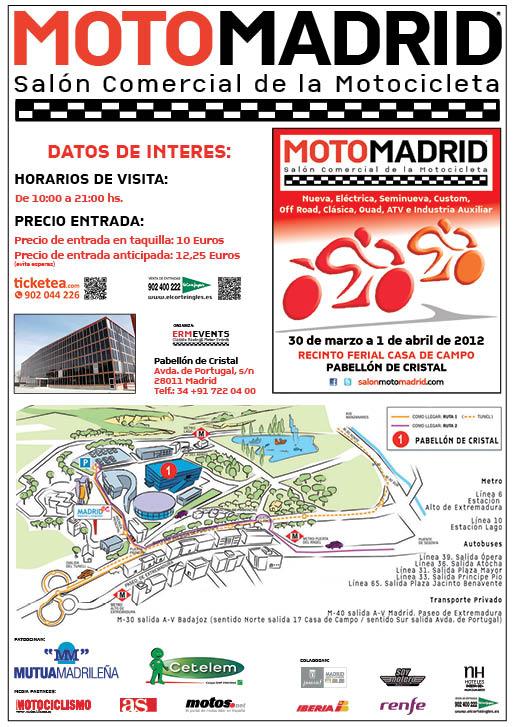 Salón de la moto de Madrid del 30 de marzo al 1 de abril del 2012
