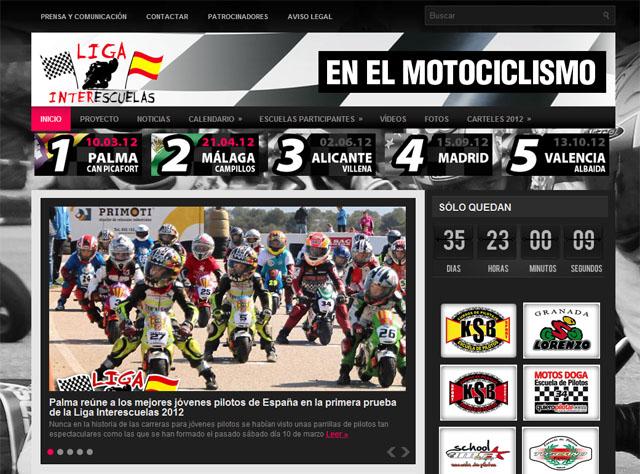 La web de la Liga Interescuelas