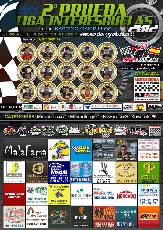 Vuelve el espectáculo a Málaga, 2 carrera Liga Interescuelas 2012