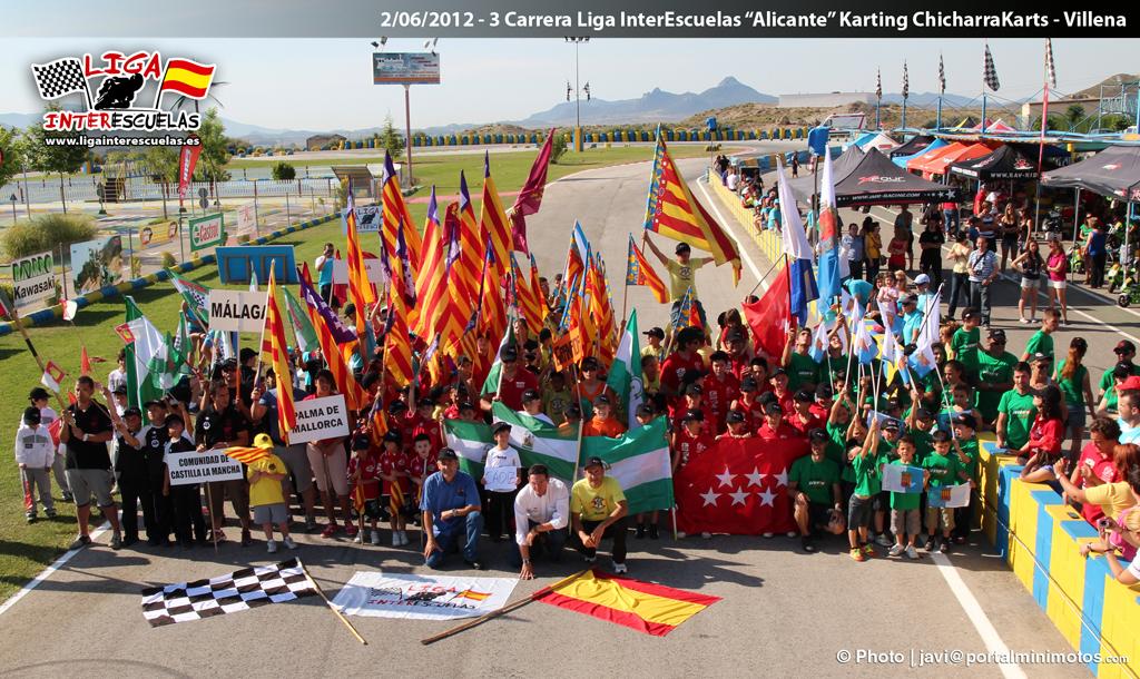 136 pilotos y 12 escuelas de toda España llenan el karting de la ciudad de Villena hasta la bandera