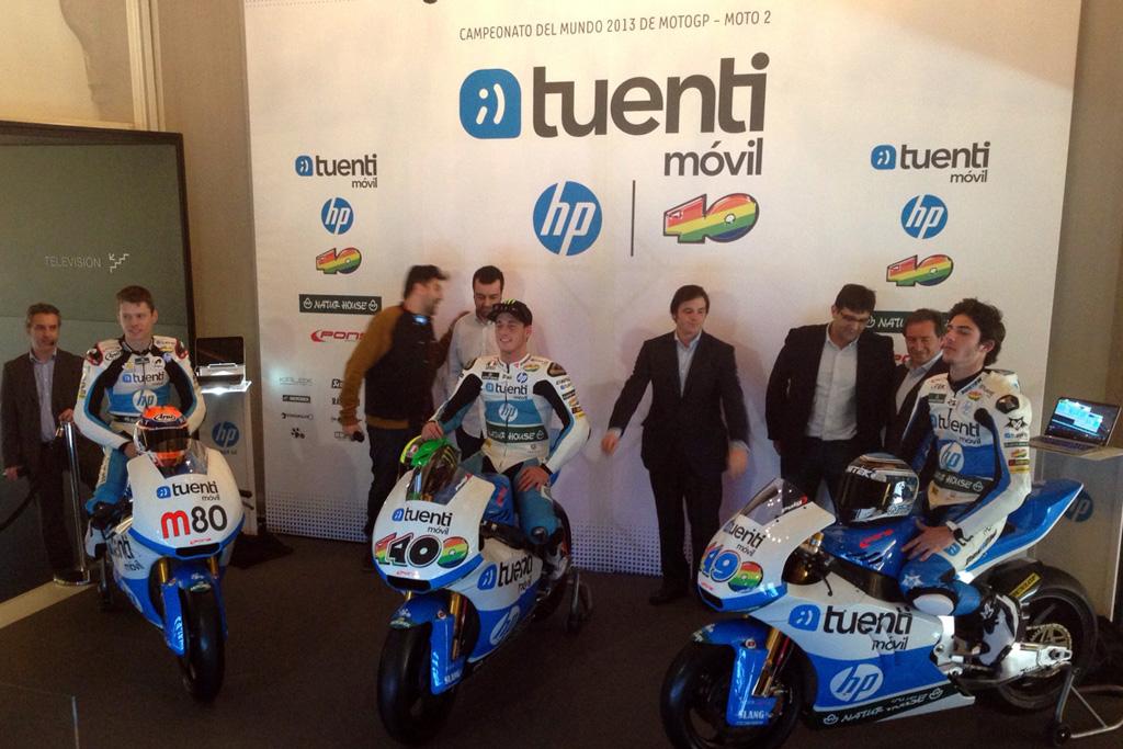 Presentación del equipo Tuenti HP 40 de Moto2, con Pol Espargaró, Tito Rabat y Axel Pons