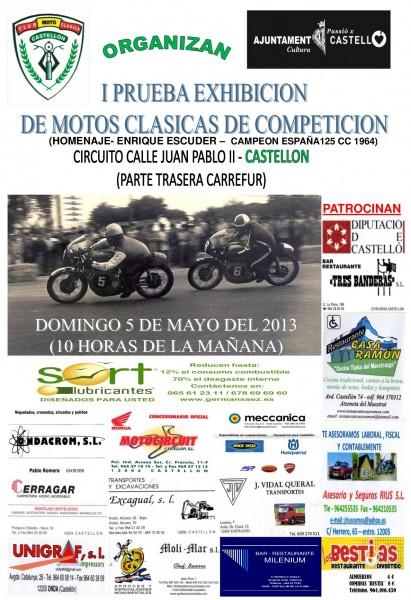 Motos clásicas de competición en Segorbe el 5 de mayo, inscripción gratuita