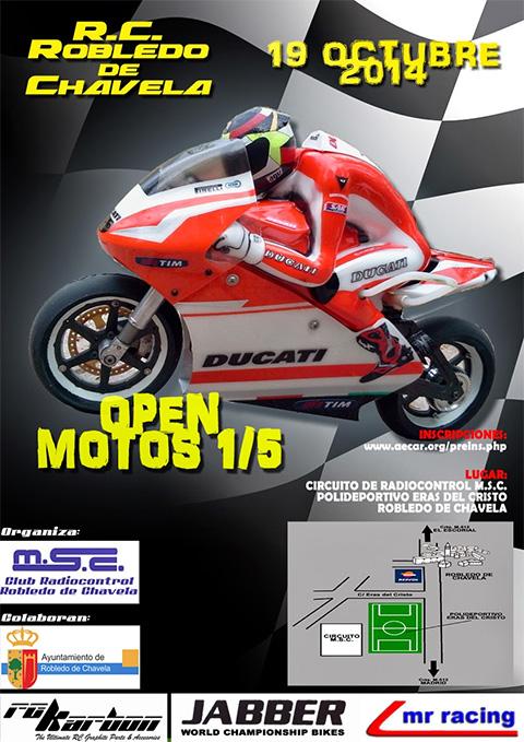 Nos gustan las motos y las carreras a cualquier tamaño: Open Motos 1/5 Campeonato Robledo 2014