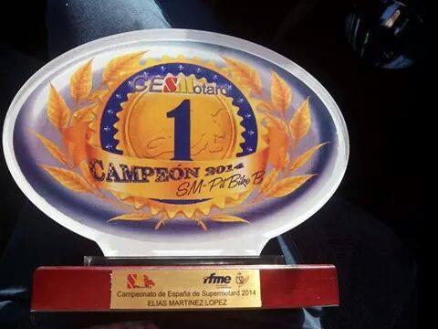 El Madrileño Elías Martinez de Villarace se proclama campeón de España de Pitbike