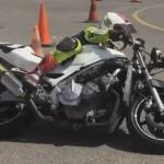 Entrenamiento de derrapajes con una CBR 600cc