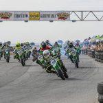 Se celebra la cuarta prueba de la Liga Española de Motociclismo en el circuito segoviano Kartpetania